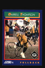 Darrell Thompson Autograph Signed 1992 Score Packers