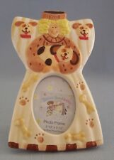 Dog Photo Frame Bones Paw Prints Food Bowl Pennies From Heaven Ceramic New