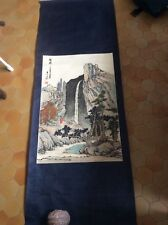 Kakémono avec peinture chinoise