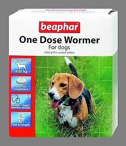 Beaphar Wormer One Dose Dogs Medium Dog 2 Tabs - 21912