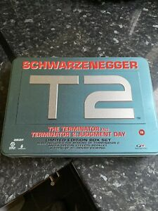 The Terminator T2 VHS Video Limited Edition Box Set Tin Arnold Schwarzenegger