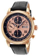 Orologio Uomo Bulova Accutron Gemini 64C100 Automatico Cronografo Mens Automatic