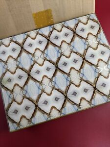 Jamie Young diamond pattern decorative Rectangle Box/ jewelry/ trinket PCMO1Y20