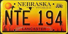 "NEBRASKA "" SANDHILL CRANES SUNSET "" DISCONTINUED "" 2003 NE Vintage License Plate"