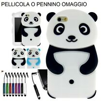 COVER CUSTODIA GEL SILICONE GUSCIO per APPLE IPHONE 5 5S PANDA + OMAGGIO