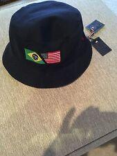 NEW RALPH LAUREN POLO OLYMPICS BUCKET/GOLF/RAIN HAT  BLUE FLAG PONY USA  S / M