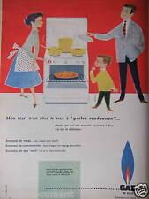 PUBLICITÉ 1957 CUISINIÈRE AU GAZ DE VILLE - CAMPS - ADVERTISING