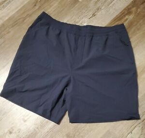 """NEW NWT Hill City 8"""" X-Purpose Athletic Shorts  Mens large navy"""