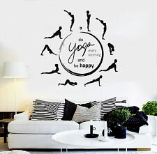 Vinyl Wall Decal Yoga Quote Pose Meditation Room Circle Stickers (ig4373)