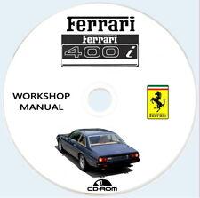 Workshop Manual FERRARI 400i MANUALE OFFICINA RIPARAZIONE.