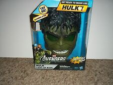 2012 HASBRO MARVEL THE AVENGERS INCREDIBLE HULK LIGHT UP MASK (NEW)