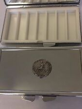 Denarius Of Nero Pewter Coin WC21 Pewter On A Mirrored 7 Day Pill box Compact