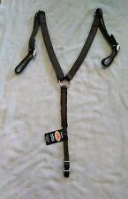"Fabtron Brown nylon 1"" pony breast collar with black felt back"