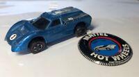 Hot Wheels Redline 1968 Light Blue Ford J-car (early run), US HTF color! Button!
