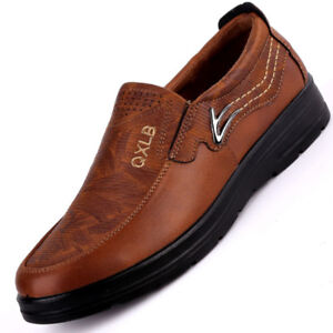 New Men Moccasins Suede Leather Breathable Antiskid Slip On Loafers Casual Shoes