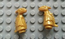 2x Lego Pearl Gold Baby Dragon Norbert animal