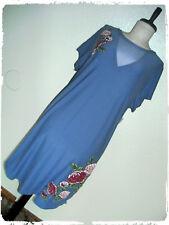 Derek Heart Lilac Rose Faux Embroidery Mesh Keyhole Shirt Dress 2X