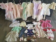 Wonderful Lot of Antique and Vintage Doll Dresses Various Sizes Handmade 30+ pcs