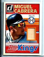 2014 Donruss Bat Kings # 32 Miguel Cabrera Bat Relic D # 08 / 25 Detroit Tigers