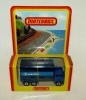 "Matchbox Superfast No 42 Mercedes Container Truck Blue ""KARSTADT"" MIB Rare Box"