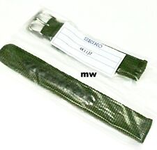 Genuine 18mm Seiko Model SNK805 Strap Model 4K11JZ Green Nylon Strap Band Watch