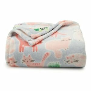Pink Cats Super Soft Throw Blanket - The Big One Oversized  - 5' x6 ft - NEW