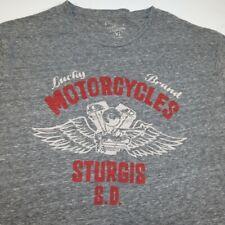 LUCKY BRAND MOTORCYCLES STURGIS S.D. MOTORCYCLE BIKER RALLY TEE T SHIRT Sz XL