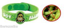AllerMates SOY Allergy Wristband Medical Alert ID Silicon Tofu Edamame Bracelet