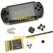PSP 1000 series Full Housing Shell Case repair parts replacement black New