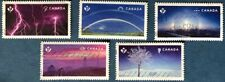 CANADA 2015 #s 2839-2843 'WEATHER WONDERS'  SET OF 5 USED SINGLE STAMPS