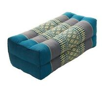 Thai Cotton Bolster Pillow Cushion Headrest Meditation Kapok 100% Filled Aqua