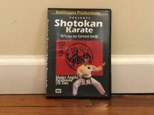 Shotokan Karate white to green belt Dvd katas stances strikes blocks kicking