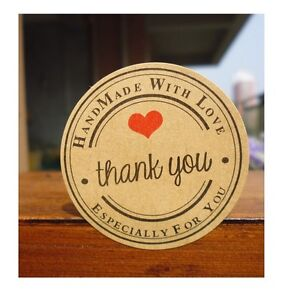 36 Thank you handmade with love especially for you cute stickers label packaging