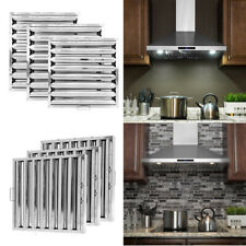 More details for 2/6x baffle grease filter stainless steel canopy cooker hoods extraction kitchen
