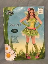 Disney Fairies Tinker Bell Ladies Halloween Fantasy Costume Junior Sz M 7-9