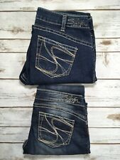 Womens Silver Jeans Super Low Rise Tuesday Slim Bootcut Jean 30 31 14 16 DEFECT