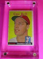 1958 Topps #75 Gus Bell Cincinnati RedLegs Reds VG