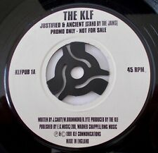 """THE KLF - JUSTIFIED & ANCIENT. 7"""" PROMO SINGLE. 1991 ISSUE."""