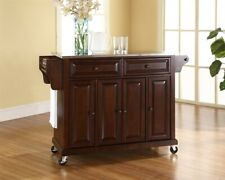 Crosley Stainless Steel Top Kitchen Cart/Island Mahogany - KF30002EMA