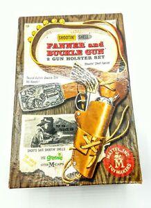 MATTEL SHOOTIN' SHELL FANNER BUCKLE GUN HOLSTER SET W/BOX, BULLETS, ETC