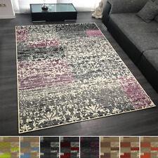 Design Velours Kurzflor Teppich 'Flora' mit Ornament Muster verschiedene Farben