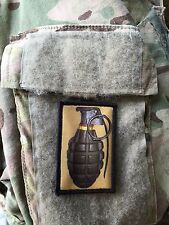 WWII Hand Grenade Morale Patch Tactical Military USA Hook Badge Army Flag