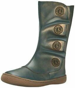 New NIB LIVIE & LUCA Shoes Boots Tiempo Blue Gold 5 7 8 9 10 11 12