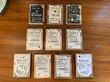 LOT - 10 Apple Macbook Western Digital Seagate Toshiba HGST SATA 2.5 Hard Drives