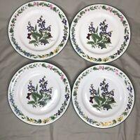 """Set of 4 ROYAL WORCESTER Worcester Herbs Sage Salad Plates 8 1/4"""""""