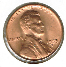 1955-D Uncirculated Business Strike Copper One Cent Coin!