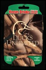 New listing Brand New Set of 4 Ducks Unlimited Wetlands Camo Brown Can Coolers!