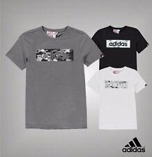 Boys Adidas Short Sleeve Camo Linea T Shirt Top Sizes Age 7-13 Yrs