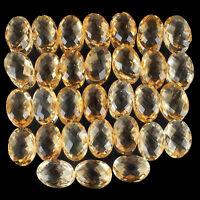 VVS 31 Pcs Natural Citrine AAA Quality 14mm/10mm Oval Checker Cut Gemstones Lot