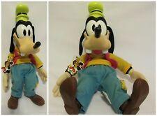 "Walt Disney Goofy Mouseketoys Plastic Vinyl Head Stuffed Doll 17"" Disneyland"